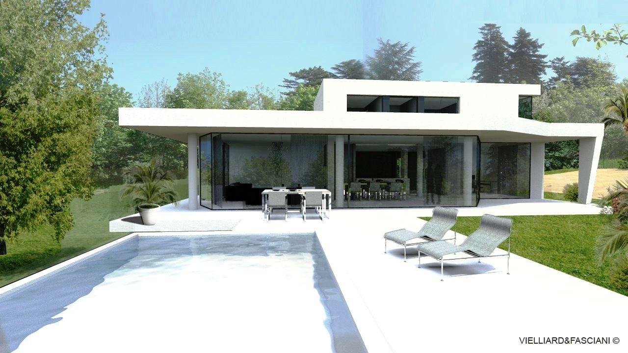 maison contemporaine lyon. Black Bedroom Furniture Sets. Home Design Ideas